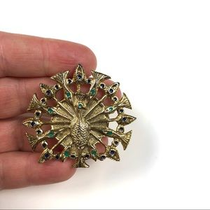 House of Harlow 1960 Large Peacock Ring